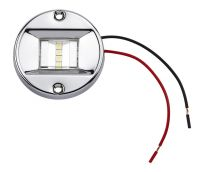 FEUX POUPE NAVIGATION, BOITIER INOX (STAINLESS STEEL) ROND, 6 LED, 12 V